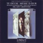 Jommelli: Te Deum D-dur; Messa D-dur a 4 Voci concertanti con strumenti obliganti